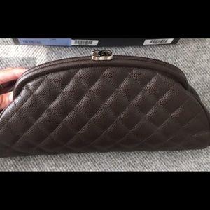 Chanel timeless caviar clutch